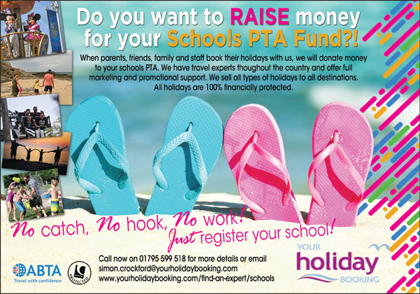 Your Holiday Booking Schools PTA Fund